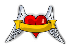 Heart wings Royalty Free Stock Photo