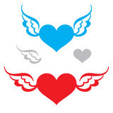 Heart and Wings Stock Photos