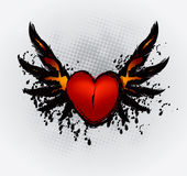 Heart Wings Stock Photography