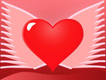 Heart with wings. Vector illustration of a heart with wings Royalty Free Stock Image
