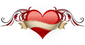 Heart with wings. Heart with free space for text Royalty Free Stock Photos