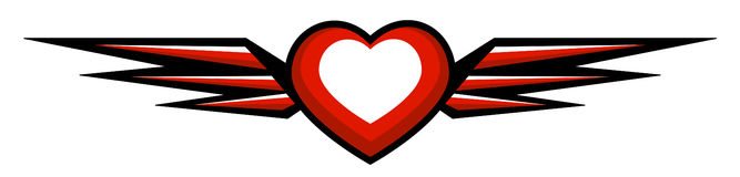 Heart with wings. Style heart with wings on white Royalty Free Stock Images