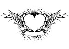 Heart wings Stock Images