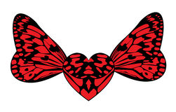 Heart with wings of the butterfly Royalty Free Stock Images