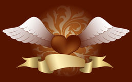 Heart with wings (color) Royalty Free Stock Photos