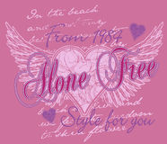 Heart with wings design Stock Photography