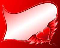 Heart with wings frame. Red heart with wings frame,background for valentine's day royalty free illustration