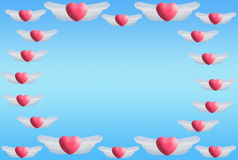 Heart wings frame Royalty Free Stock Photo