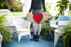 Heart with Wings Royalty Free Stock Images