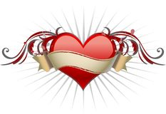 Heart with wings. Royalty Free Stock Photos
