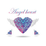 Heart with wings on isolated background Stock Photography