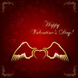 Heart with wings Stock Photography