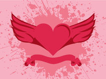 Heart And Wings Splash. Vector illustration of a heart with wings on splash background Stock Images