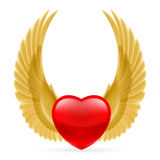 Heart with wings up Stock Photography