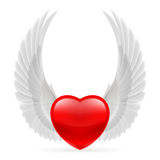Heart with wings up Stock Photos
