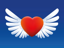 Heart With Wings Royalty Free Stock Photography