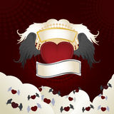 Heart with wings. Vector illustration of flying hearts with wings Stock Photography