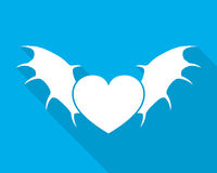 Heart with wings. Vector illustration. Royalty Free Stock Images
