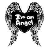 Heart with wings. Royalty Free Stock Image