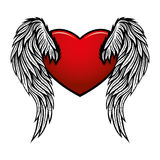 Heart with wings. Stock Image