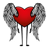Heart with wings. Stock Photography