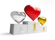 Heart winner Stock Images