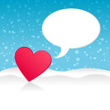Heart on winter landscape. Vector Royalty Free Stock Image