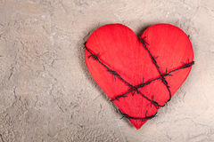 Heart With Barbed Wire Stock Images