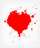 Heart With Blood Stock Photography