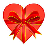 Heart With Bow Royalty Free Stock Images