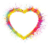 Heart With Grunge Background. EPS 8 Stock Images