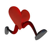 Heart With Legs Running Royalty Free Stock Image