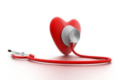 Heart With Stethoscope Royalty Free Stock Photo