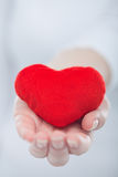 Heart in the woman hand Stock Image