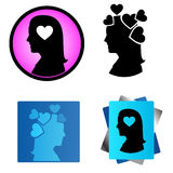 Heart of the woman mind Stock Photo