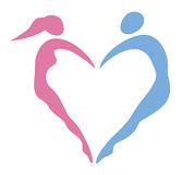 Heart of women and men Royalty Free Stock Photo