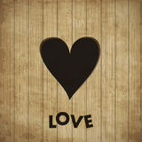 Heart in wood,. Heart in wood illustration Stock Photos