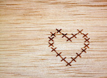 Heart on wood Royalty Free Stock Images