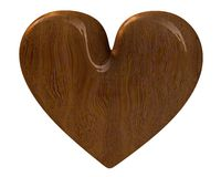 Heart in wood (3D) Stock Photos