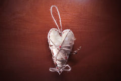 Heart on wood background Royalty Free Stock Photography