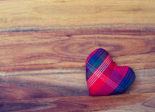 Heart on the wood background Royalty Free Stock Images