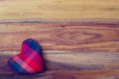 Heart on the wood background Stock Photo