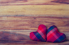 Heart on the wood background Royalty Free Stock Photos