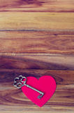 Heart on the wood background Stock Image