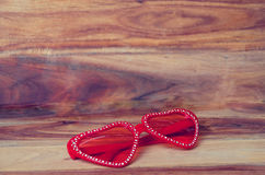 Heart on the wood background Royalty Free Stock Photography