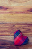 Heart on the wood background Royalty Free Stock Photo