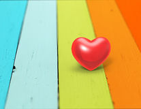 Heart on a wood background Stock Photography