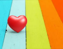 Heart  wood background, Valentine Day Royalty Free Stock Images