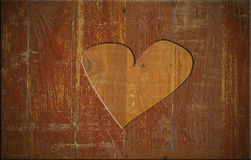 Heart on the wood board Stock Photo