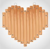 Heart wood board Royalty Free Stock Image